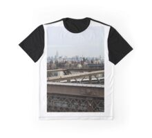 Manhattan View from Brooklyn Bridge Graphic T-Shirt
