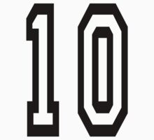 10, TEAM SPORTS NUMBER, TEN, TENTH, Competition Baby Tee