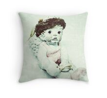 Ballerina Angel Cherub in Pink Ballet Slippers Throw Pillow