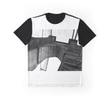 Brooklyn Bridge New York Black & White Graphic T-Shirt