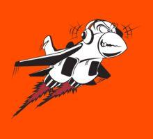 Cartoon crazy jet fighter Kids Tee