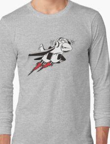 Cartoon crazy jet fighter Long Sleeve T-Shirt