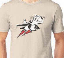 Cartoon crazy jet fighter Unisex T-Shirt