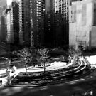 New York Columbus Circle Black & White by Lee Whitmarsh