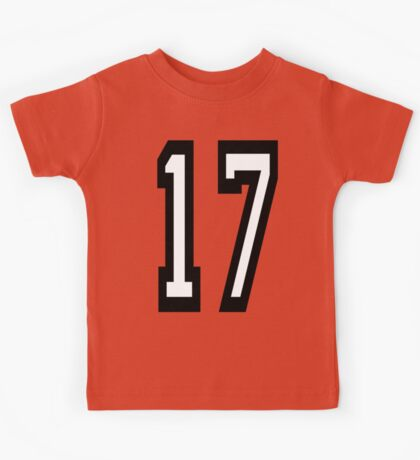 17, TEAM SPORTS, NUMBER 17, SEVENTEEN, SEVENTEENTH, ONE, SEVEN, Competition,  Kids Tee