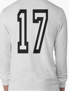 17, TEAM SPORTS, NUMBER 17, SEVENTEEN, SEVENTEENTH, ONE, SEVEN,Competition,  T-Shirt