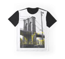 Brooklyn Bridge New York Graphic Graphic T-Shirt