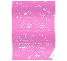 Geek Chic (White on Pink) Poster