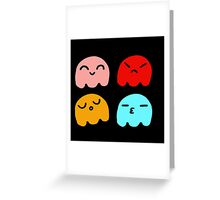 Pacman Ghosts Greeting Card