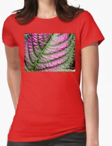 Iridescent Colorful Leaf Womens Fitted T-Shirt