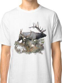 Bull elk and mule deer buck Classic T-Shirt