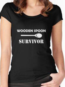Wooden spoon survivor  Women's Fitted Scoop T-Shirt