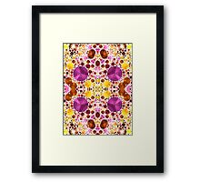 Pink Yellow Bling Abstract Pattern  Framed Print
