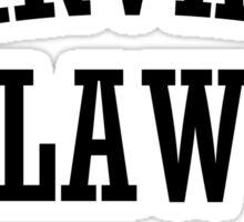 Harvard law - Just kidding  Sticker