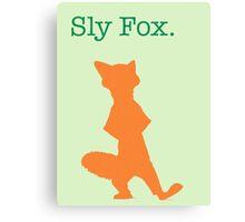 Zootopia / Zootropolis - Nick Wilde Sly Fox Canvas Print