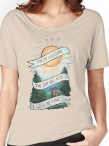 Please Pardon Yourself by the Avett Brothers Design Women's Relaxed Fit T-Shirt