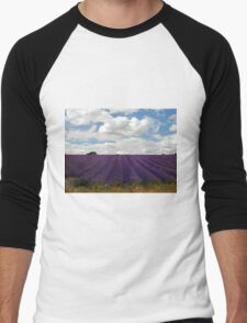 Lavender Landscape (Version 2) Men's Baseball ¾ T-Shirt