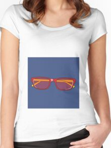 Pop Art Glasses Women's Fitted Scoop T-Shirt