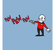 Pew Pew Picard  Photographic Print