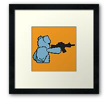 Teddy with a Machine Gun Framed Print