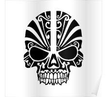 Skull Tattoo Tribal Poster