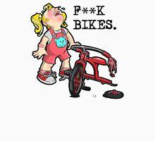 F**K Bikes. Women's Fitted V-Neck T-Shirt