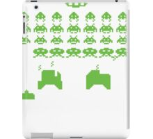 space invaders green iPad Case/Skin