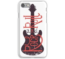 Electric guitar and lettering rock and roll with grunge effect. iPhone Case/Skin