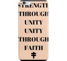 Strength Through Unity Unity Through Faith V for Vendetta iPhone Case/Skin