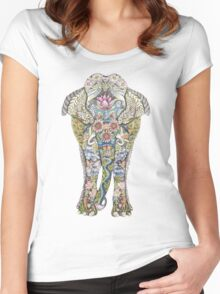 Decorated Elephant Women's Fitted Scoop T-Shirt