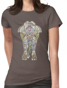 Decorated Elephant Womens Fitted T-Shirt