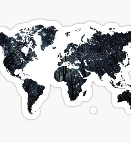 Forests at Night - World Map Sticker