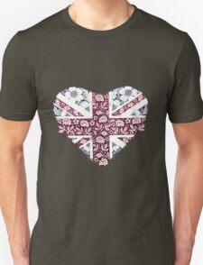 Floral Union Jack Heart T-Shirt
