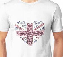Floral Union Jack Heart Unisex T-Shirt