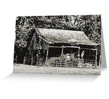 """""""Old Timer's Barn (B&W)""""... prints and products Greeting Card"""