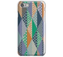 Wintry Patchwork Pattern iPhone Case/Skin