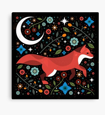 Flame Fox  Canvas Print