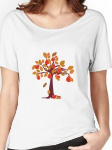 Pear Tree red Women's Relaxed Fit T-Shirt