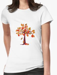 Pear Tree red Womens Fitted T-Shirt