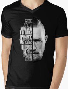 Here to take over plain profile Mens V-Neck T-Shirt