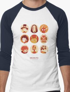 Ghibli Collection Men's Baseball ¾ T-Shirt