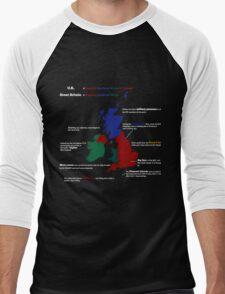 UK infographic Men's Baseball ¾ T-Shirt