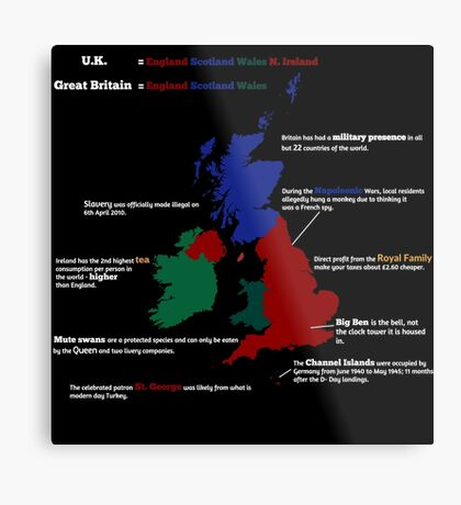 UK infographic Metal Print