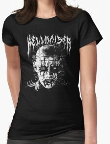 Black Metal Pinhead Womens Fitted T-Shirt