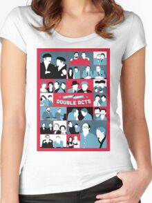 British Comedy Double Acts Women's Fitted Scoop T-Shirt