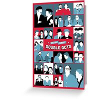 British Comedy Double Acts Greeting Card