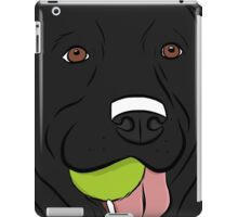 Black Lab with Ball  iPad Case/Skin