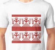 Knitted design pattern. Russian traditional motive. Unisex T-Shirt