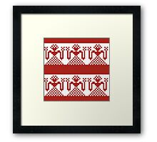Knitted design pattern. Russian traditional motive. Framed Print