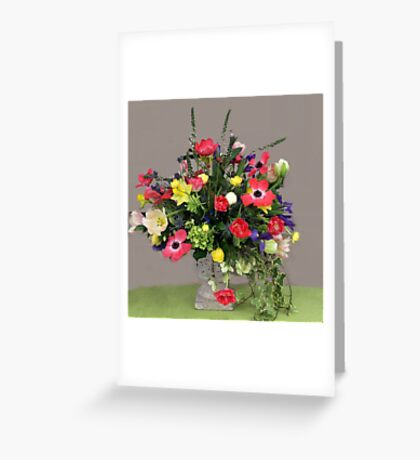 Multi-Colored Arrangement Greeting Card